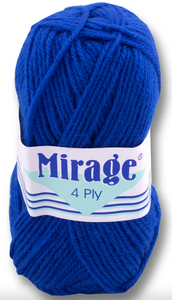Mirage Wool - 4 Ply 25g (Royal)