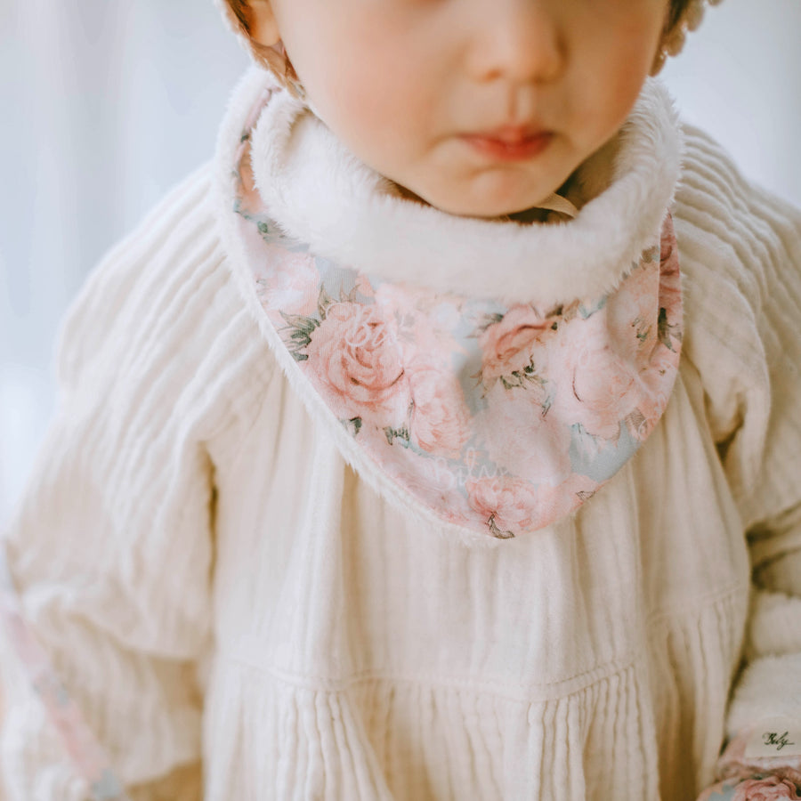 Winter Bib - Rose Water