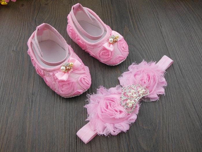 be07b040a baby shoes with headband