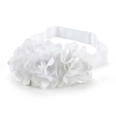 Blossom sequence baby headband - White