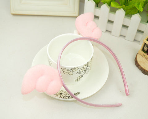 Angel Wings Hairband-Baby Pink