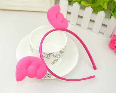 Angel Wings Hairband-Hot Pink