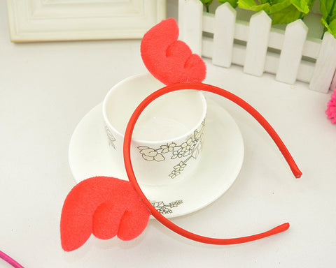 Angel Wings Hairband-Red