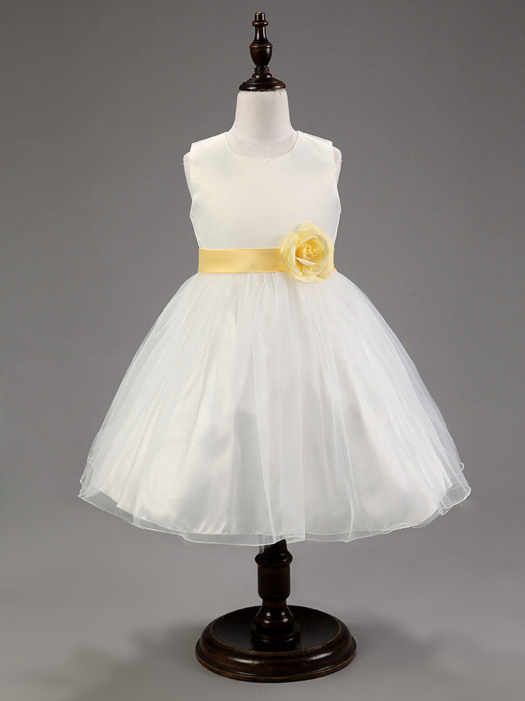 Little Diva Dress - White and Gold