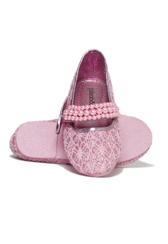 Pikaboo Essentials Baby Pink Pearly Mary Janes