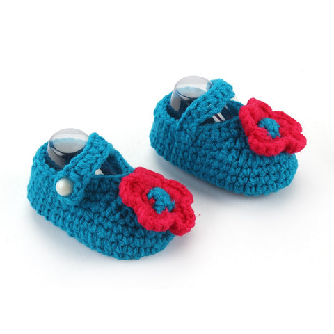 Teal Crochet Baby booties (2-6 months)