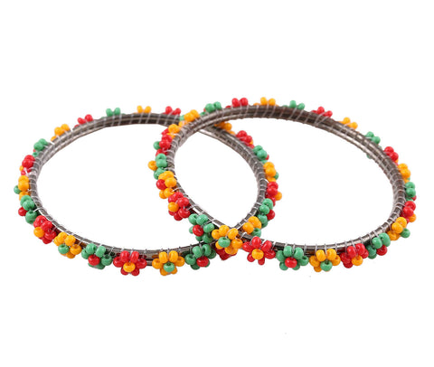 Ethnic Beaded Bangles - Multi
