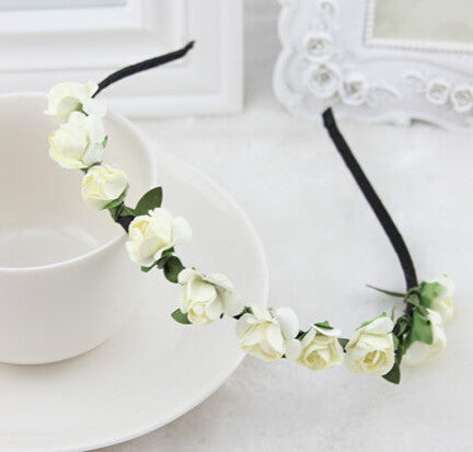 Ivory flower garland hairband