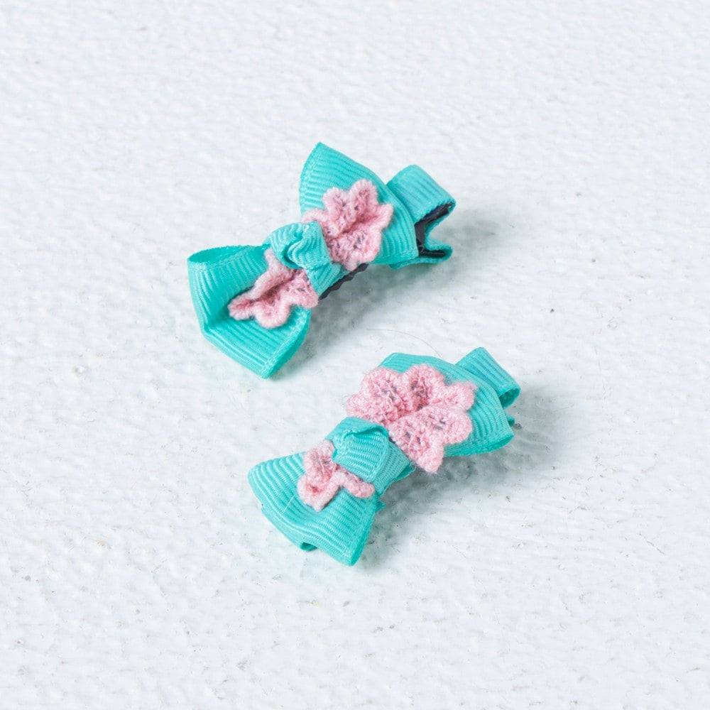 Flowery Bows -Green