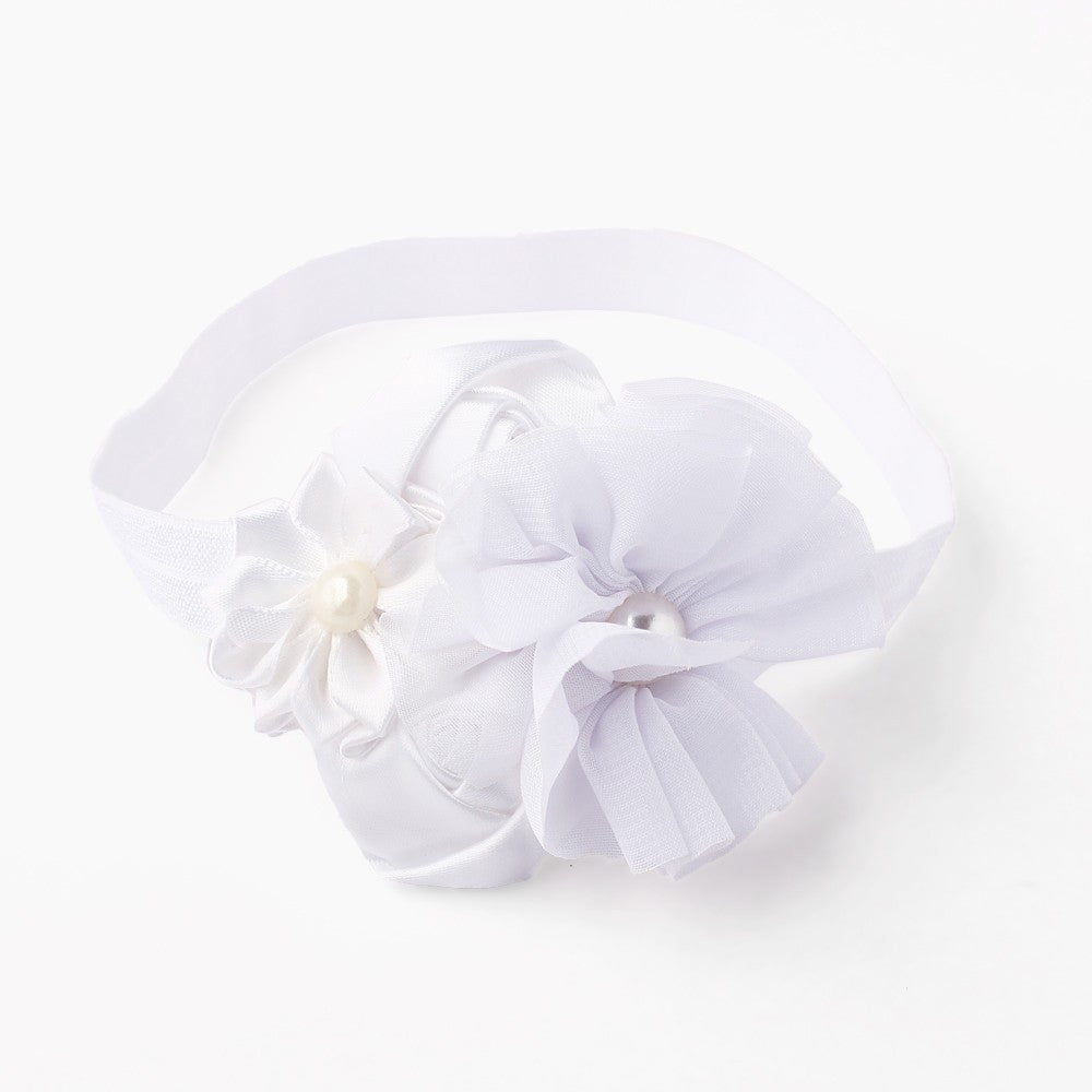 Roses and Pearls Headband - White – Pikaboo 922d7d39043
