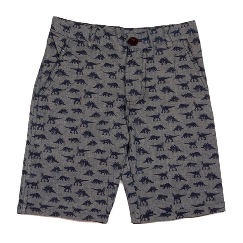Dinasour printed boys shorts - Light weight denim
