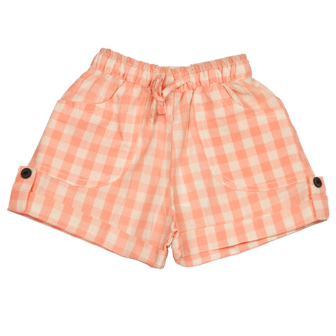 Pink checks yd infant boys Cotton Shorts