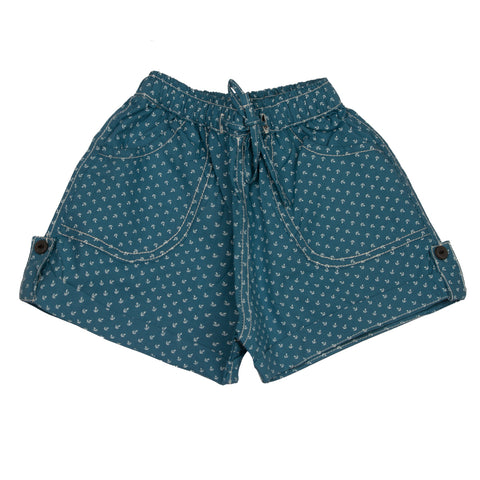 Anchor Print infant Boys Cotton Shorts