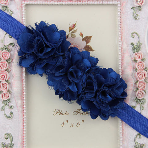 Blossom sequence baby headband - Royal Blue