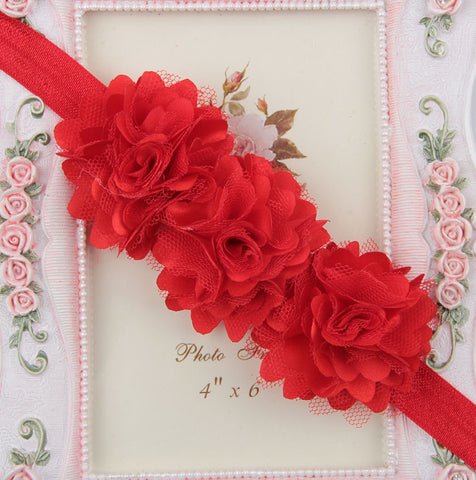Blossom sequence baby headband - Red
