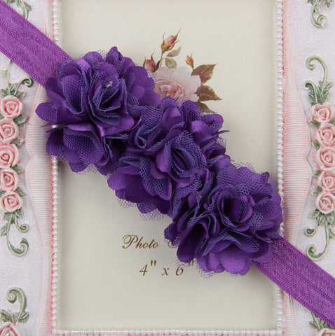 Blossom sequence baby headband - Purple