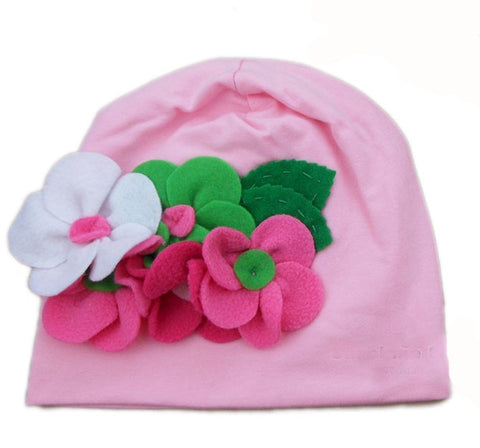 Baby Pink Cotton Cap for girls