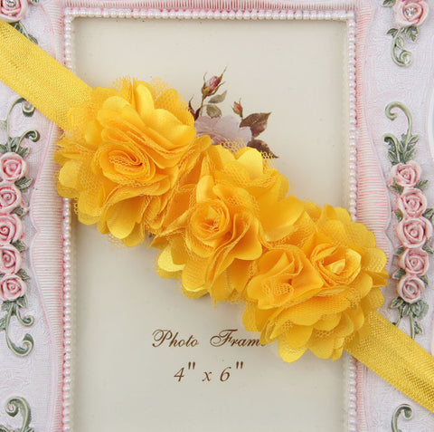 Blossom sequence baby headband - Yellow