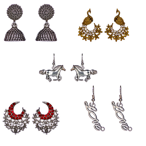 Oxidized earring combo