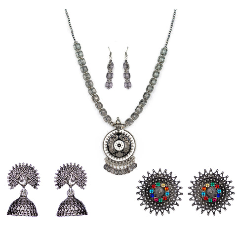 Necklace set and earring combo