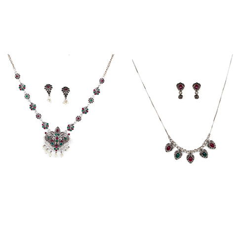 Oxidized necklace set combo