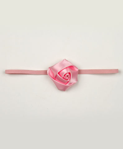 Big Rosy Headband - Baby Pink