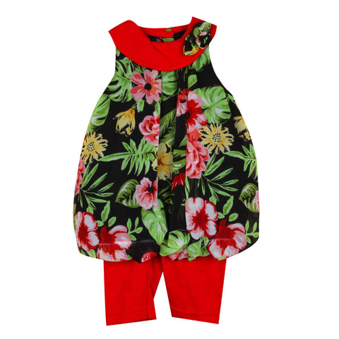 Floral print Infant Top with pant