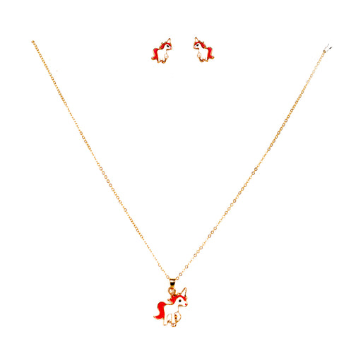 Unicorn Chain Pendant Set for Kids