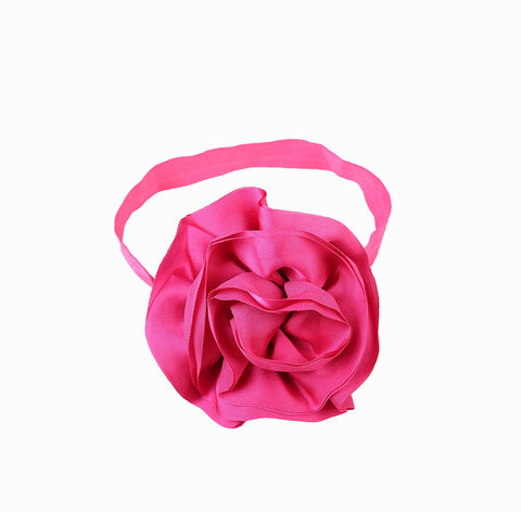 Pikaboo Big Shiny Rose headband - Hot Pink