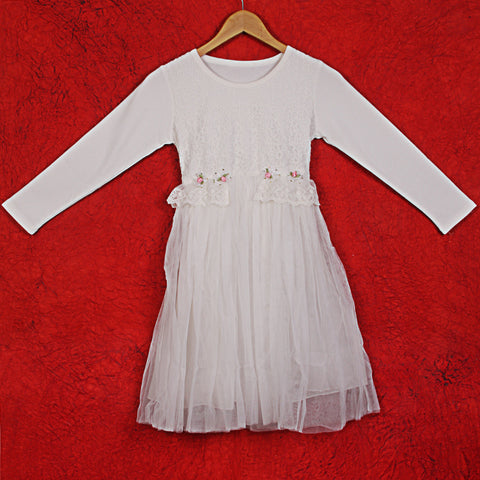 Aanya Lace Dress - White