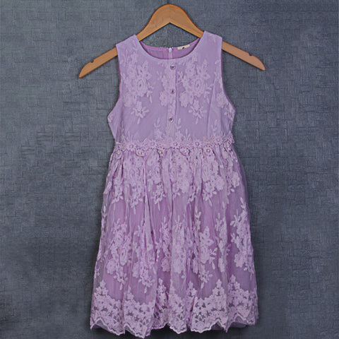 Adrika Delicate Lace Dress - Lavendar