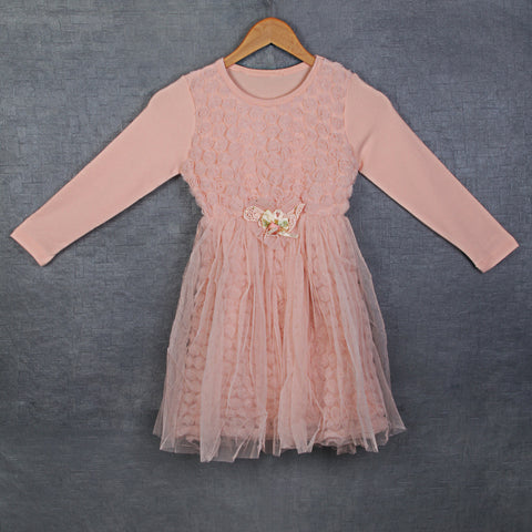 Little Cascade Dress - Peach