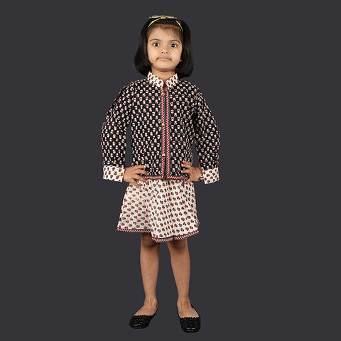 Red Black and White Small Motif Pinafore