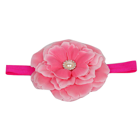 Big Flower Headband - Fuchsia