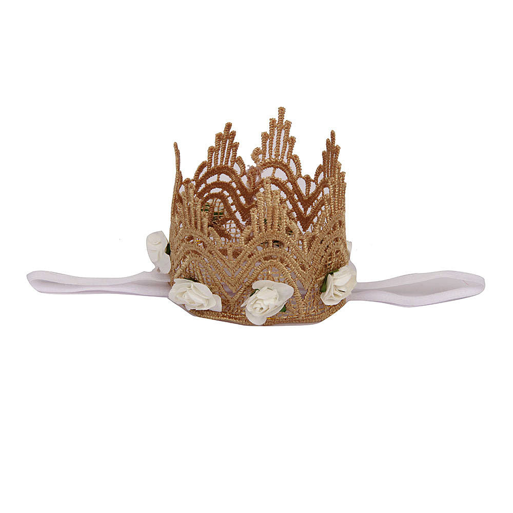 Lace crown Headband - White