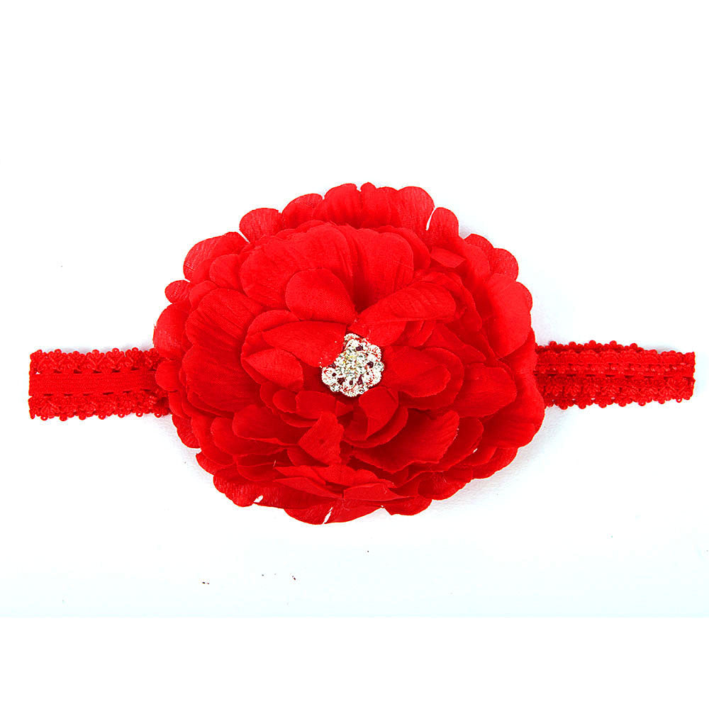 Big Flower Headband - Red