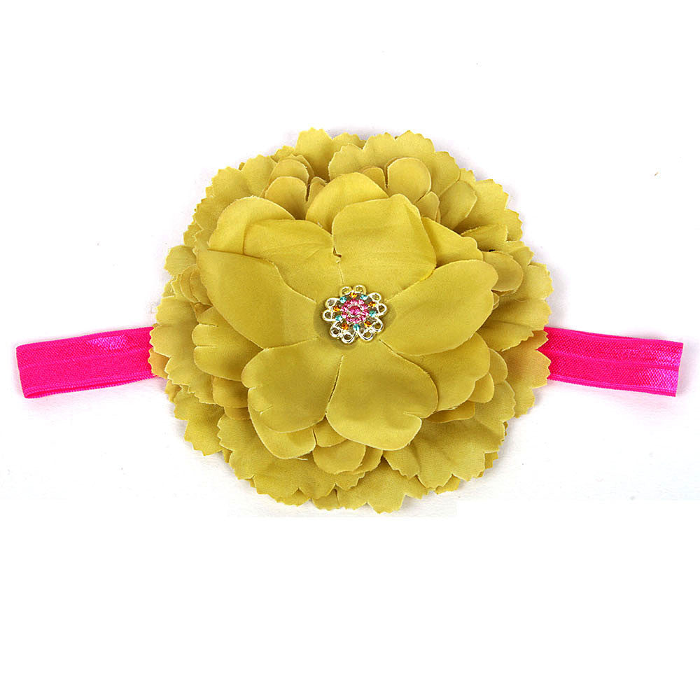 Big Flower Headband - Olive