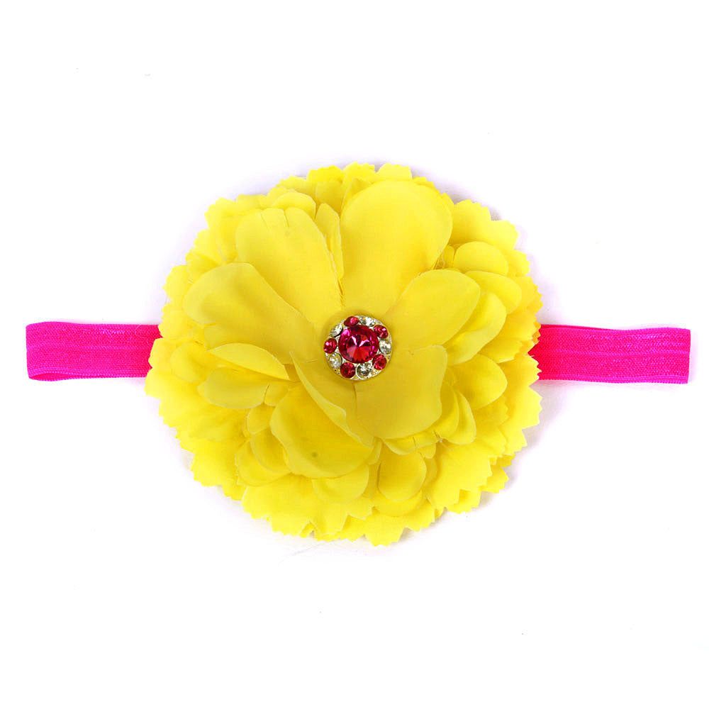 Big Flower Headband - Yellow
