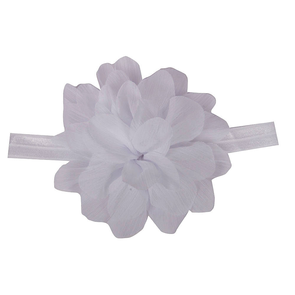 White color Multi Petal Floral Headband