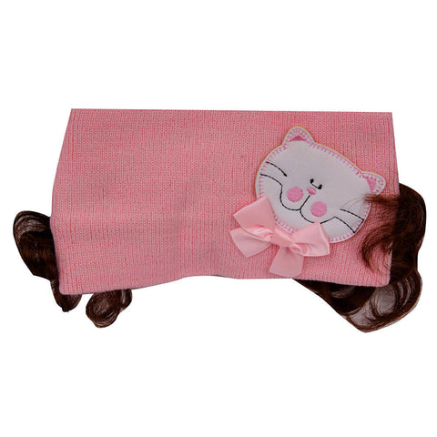 Pikaboo Bandana with Kitty - Baby Pink