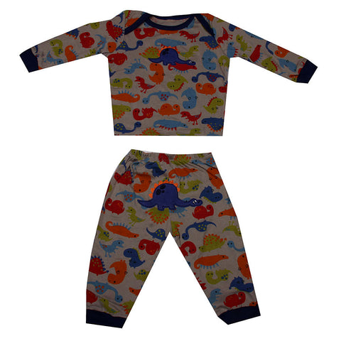 Dinosaur night suit in Grey