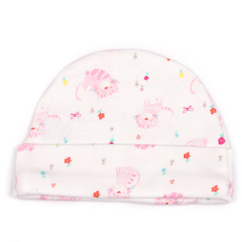 Cat Printed baby cap
