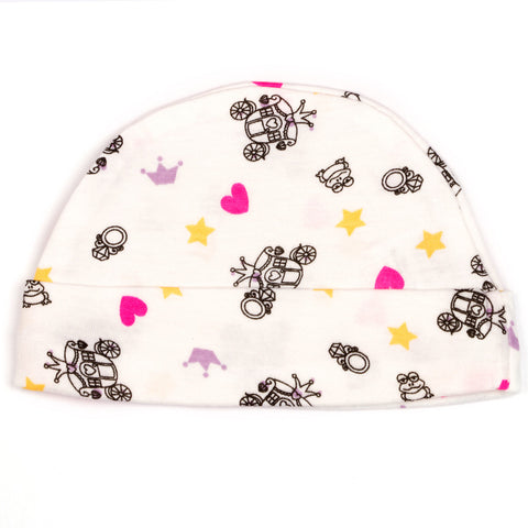 Carriage print baby cap