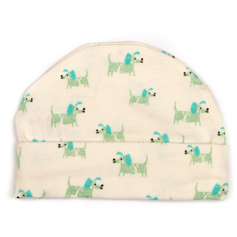Doggie printed baby cap