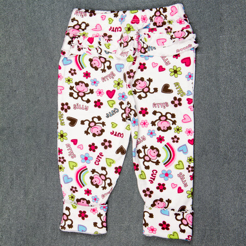 Flower Pants with Frills - Girls