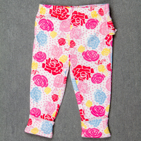 Pink rose Pants with Frills - Girls
