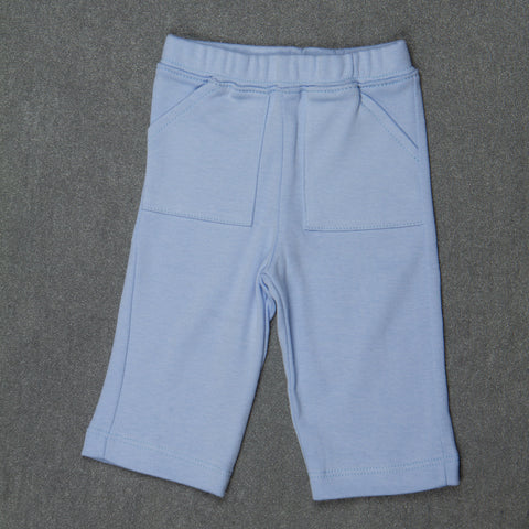 Solid sky blue Pants - Boys