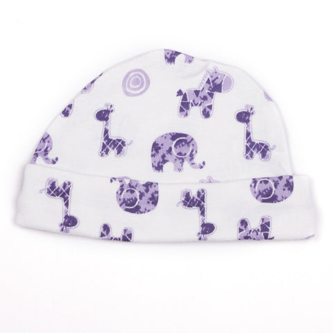 Animal printed baby cap