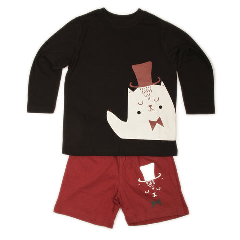 Magician T-shirts Shorts set - Black