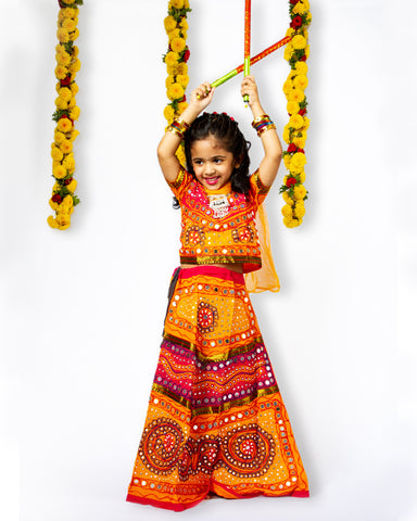 Yellow Girls Chaniya Choli